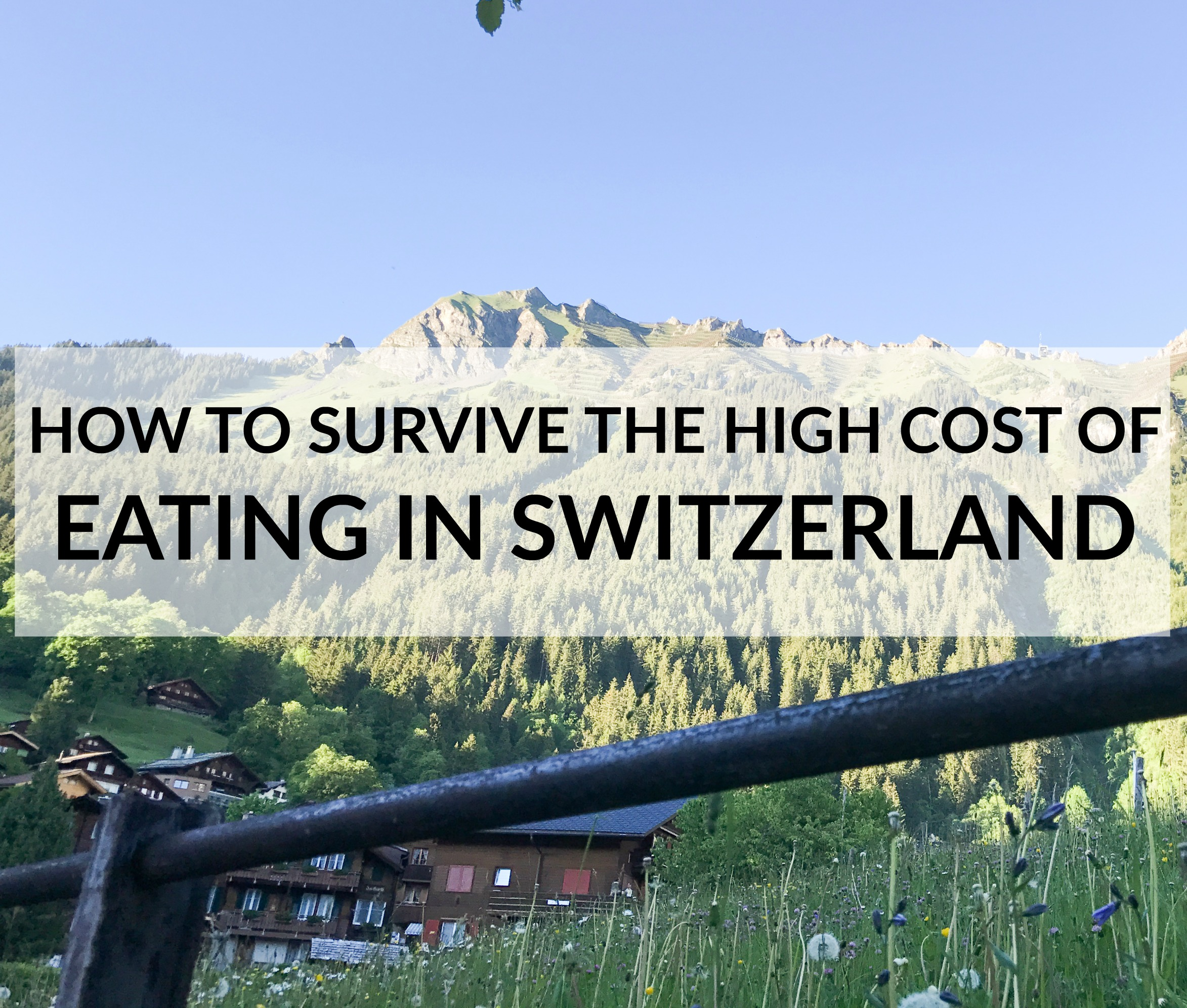 Eating in Switzerland